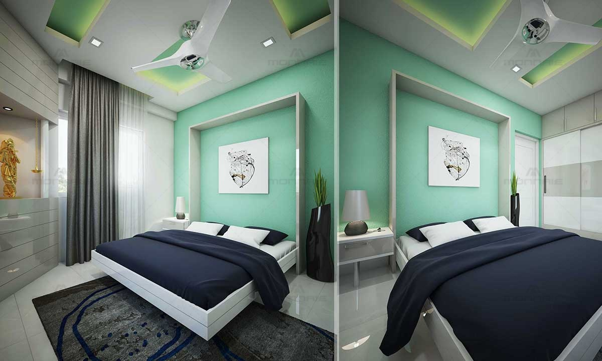 Bed room interior color