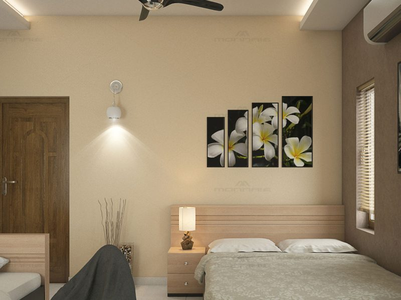 Bedroom interiors in Ernakulam