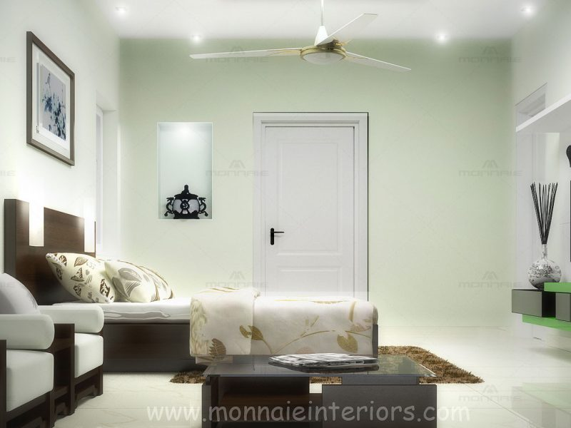 Bedroom interiors in kochi, Kerala - Monnaie Architects & Interiors