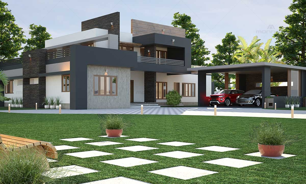 Best Contemporary Architecture House Design - Thrissur Kerala