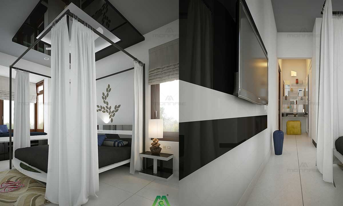 Canopy Bed Curtain Design - Top Interior designers in Kerala