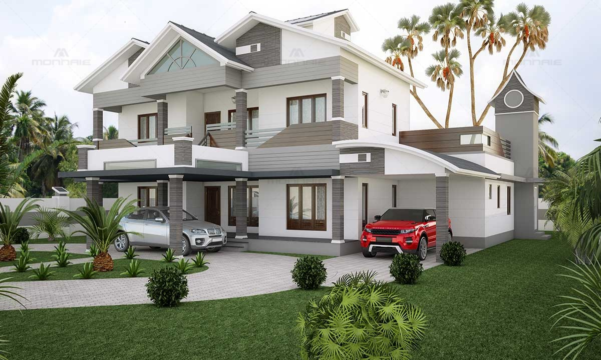 Contemporary Architecture & Colonial Style House Image