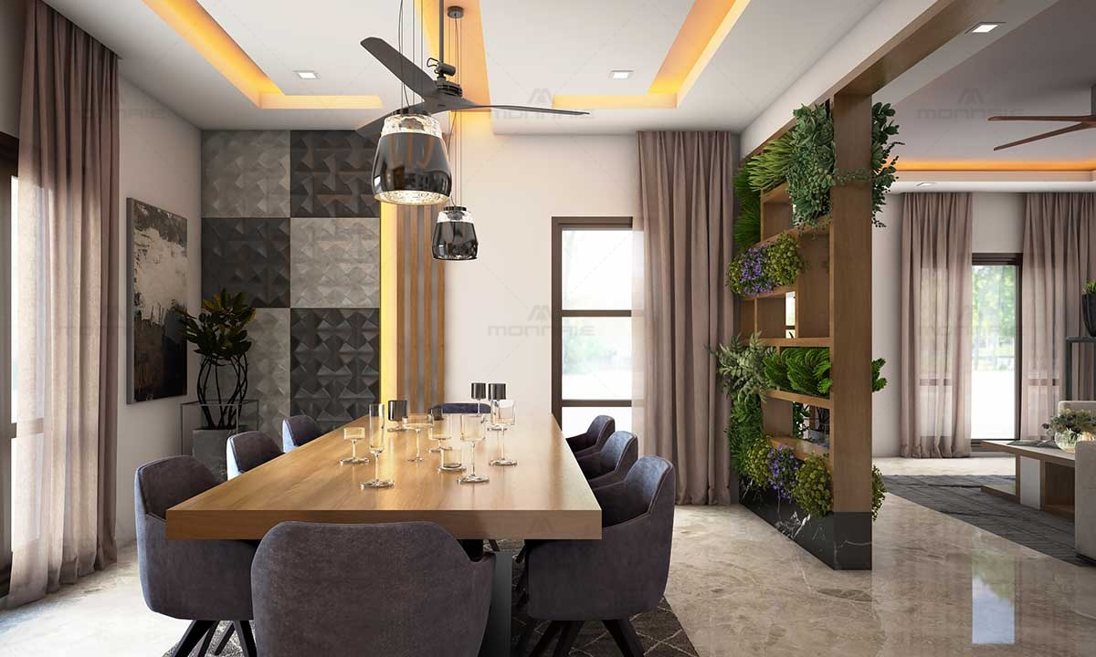 Contemporary Dinning Room Interior Design Ideas - Monnaie Architects