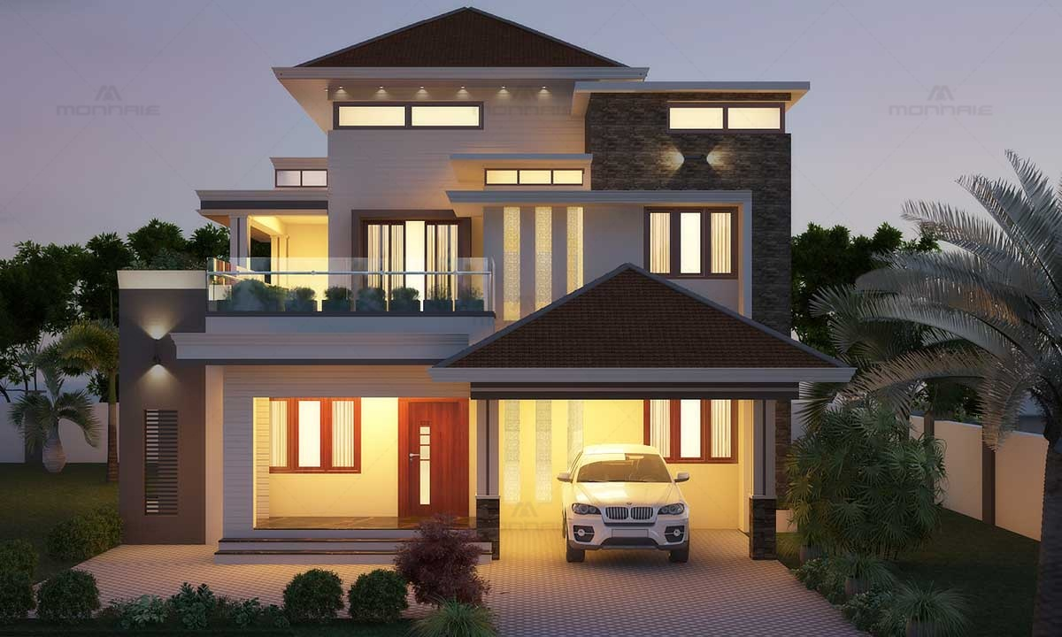 Contemporary Fusion House - Best Home Designers In Kerala