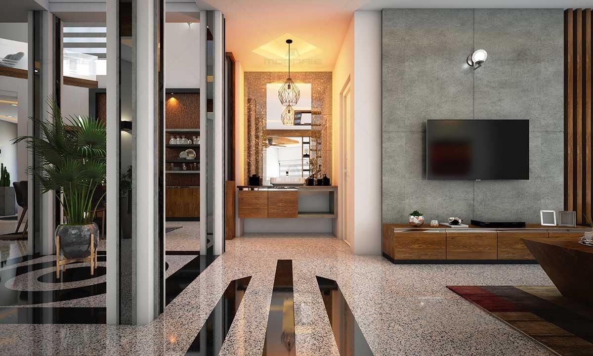 Contemporary Interior Architecture Style Home Palakkad, Kerala