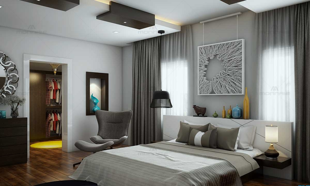 Contemporary Minimalistic Bedroom Interior Design - Monnaie Architects