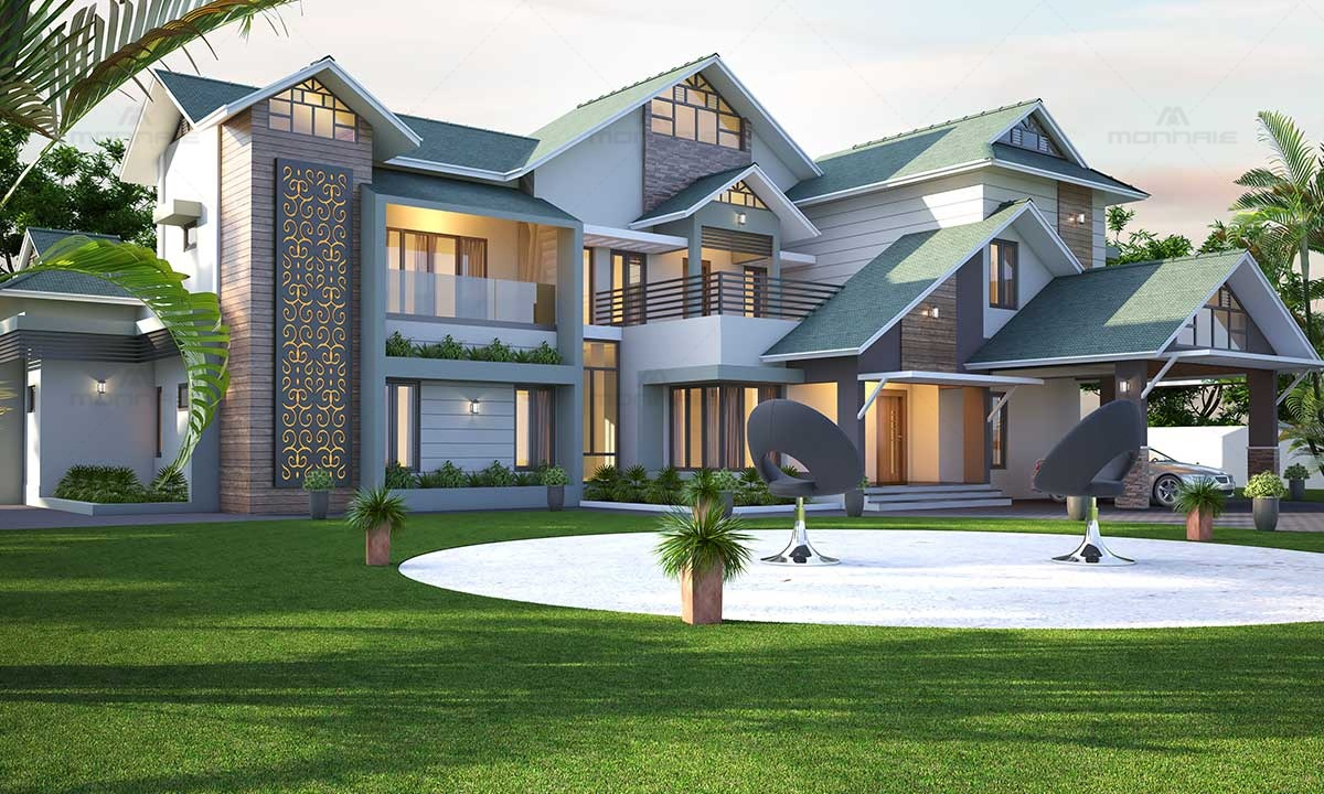 Contemporary Style Residence Images, Kerala