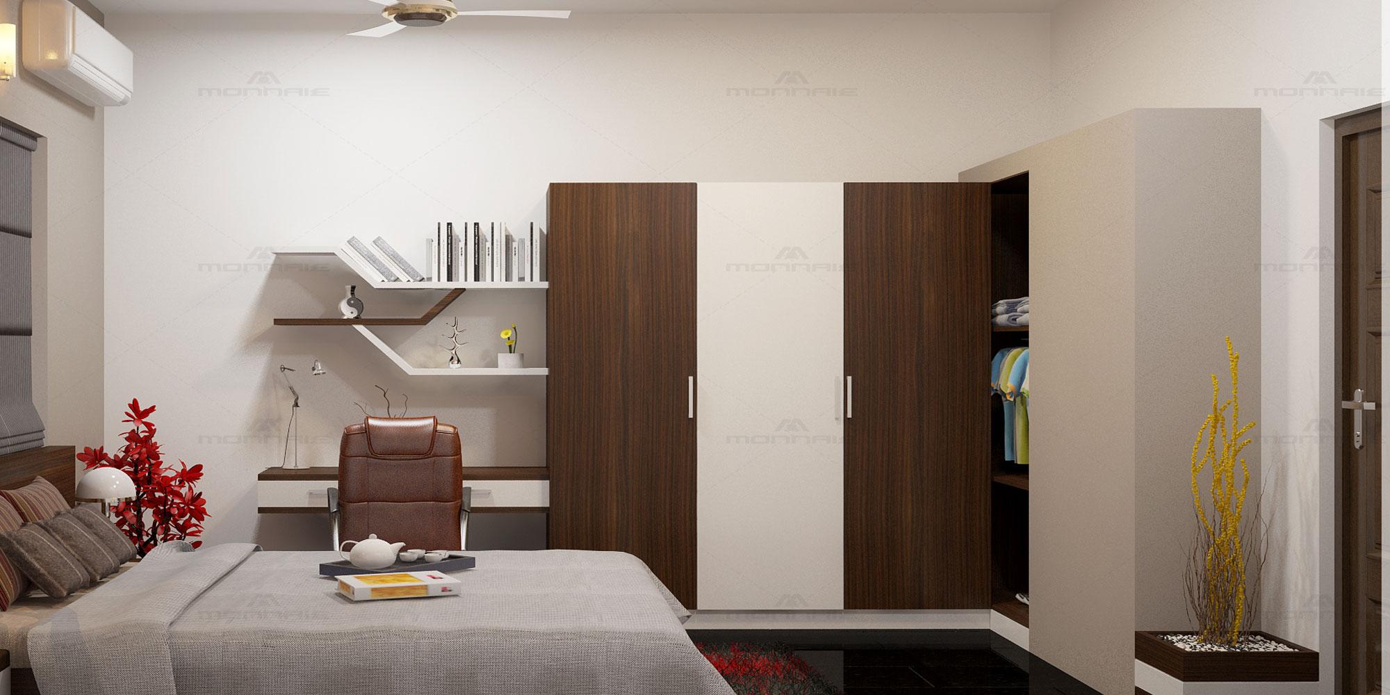 Bedroom interiors in Kozhikode