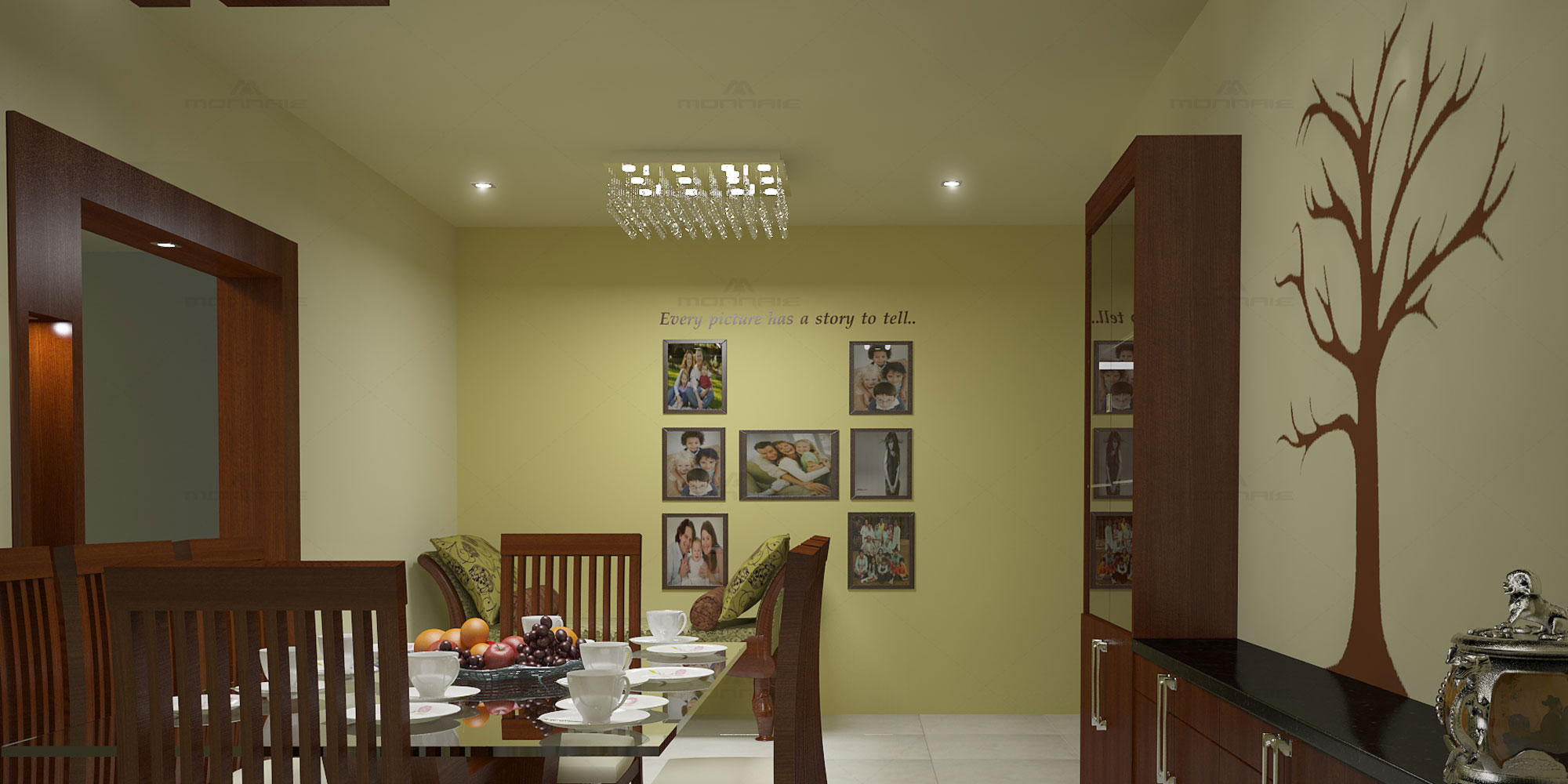 Dining Room interiors in Kottayam