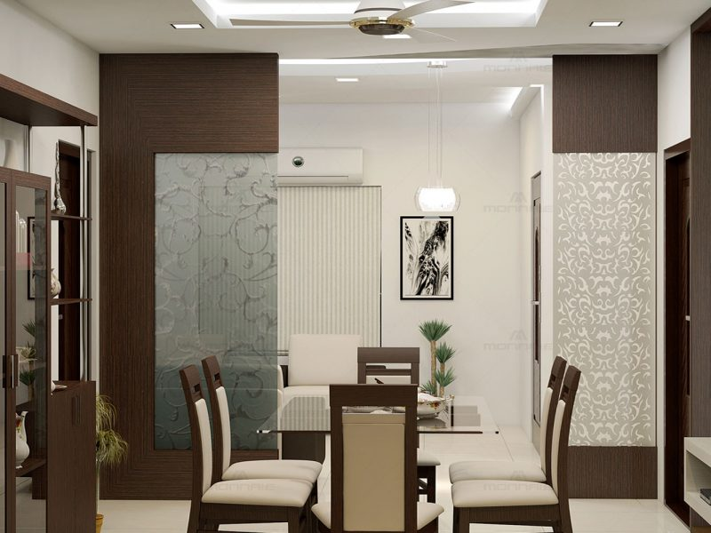 Dining Room interiors in Palakkad