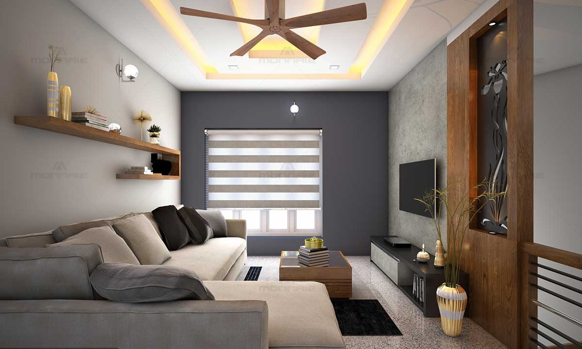 Home Living Room Interiors & Wall Painting Design