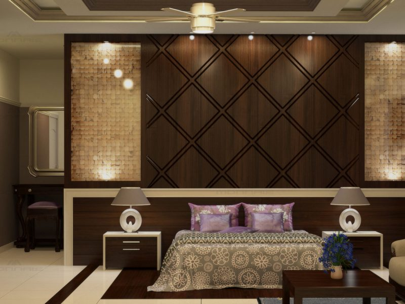 bhk flat interiors in kerala