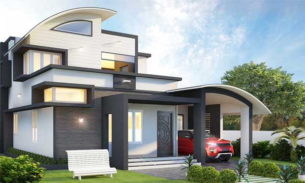 Kerala home Architecture design - Monnaie Architects
