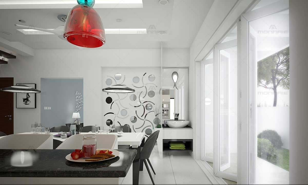 Kitchen & Dining Room Ideas With White Theme