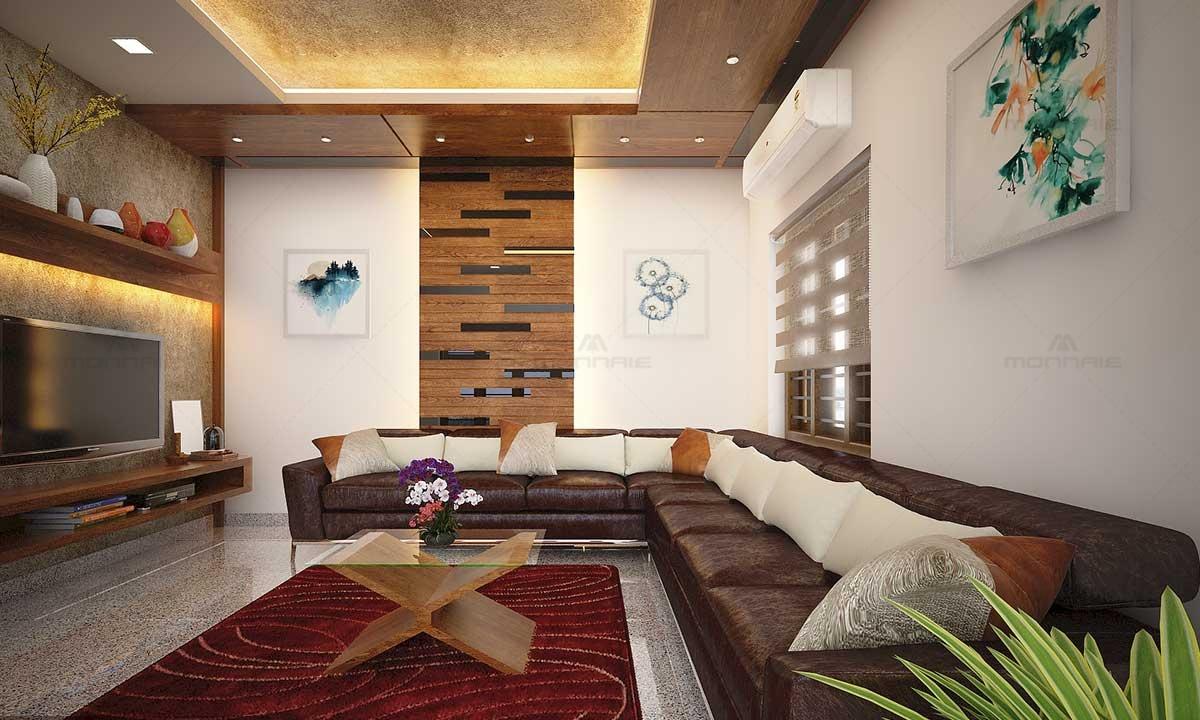 L Shaped Sofa Set & Living Interior Design