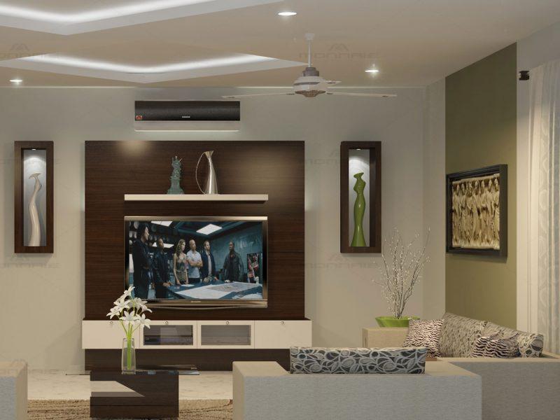 Living room interior & decoration in kerala
