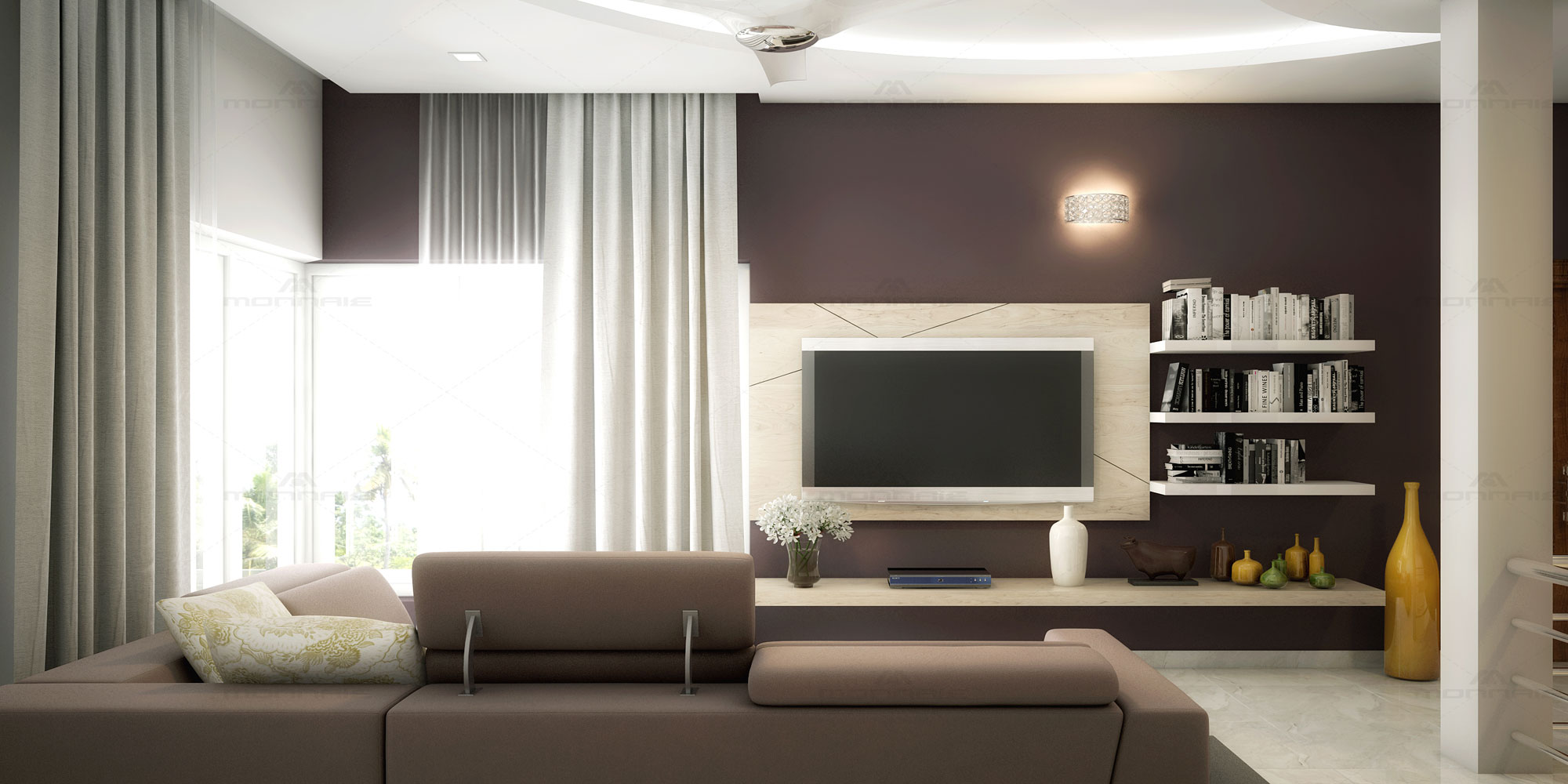 living room interior design - Monnaie Architects & Interiors