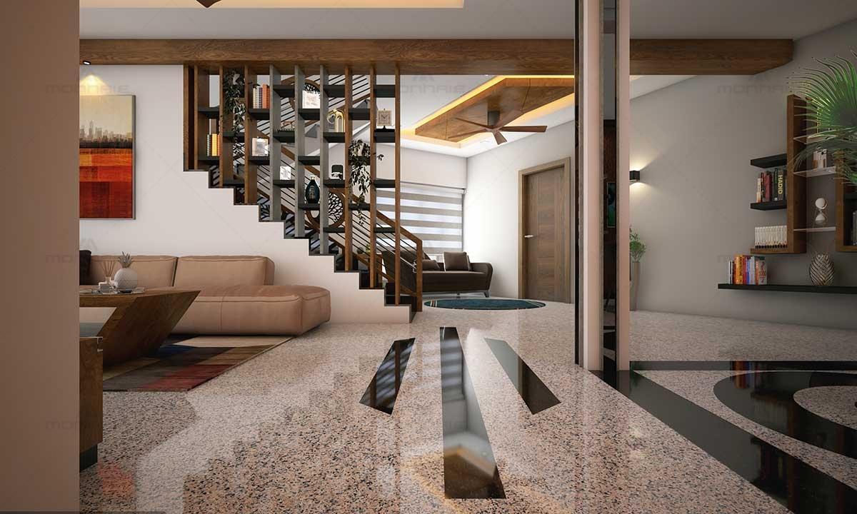 Living Room Interior Shelves & Furnitures