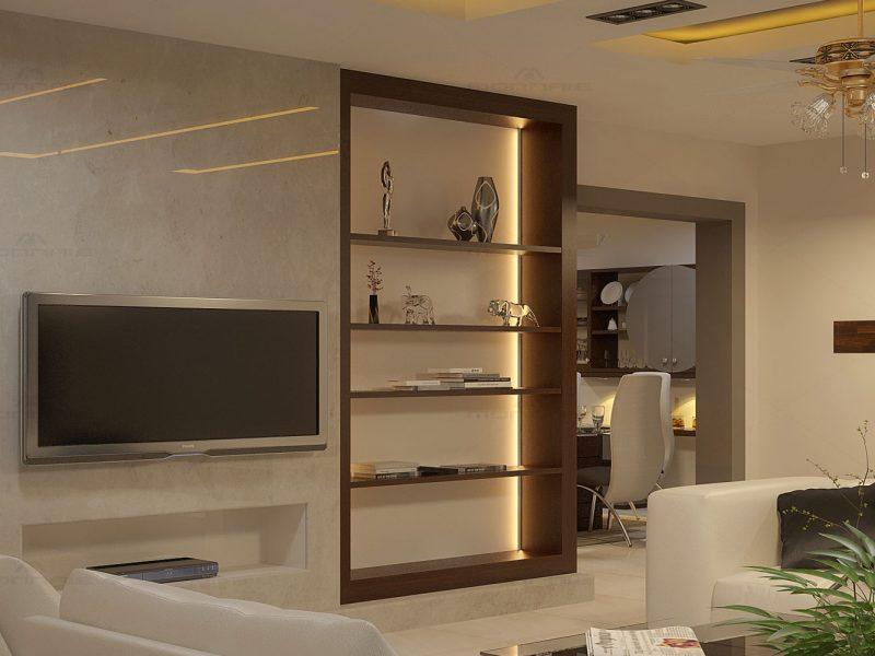 Living room interiors in Kottayam - Monnaie Architects & Interiors