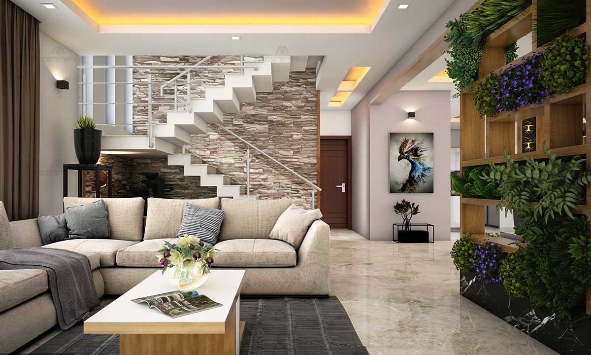 Living Room & Staircase Design Plans