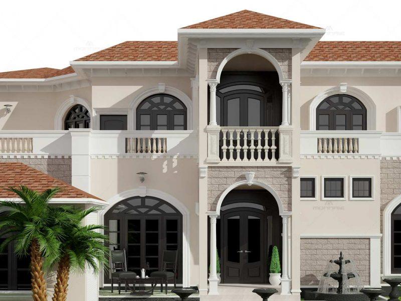 Mediterranean style house designs in kerala - Monnaie Aechitects & Interiors