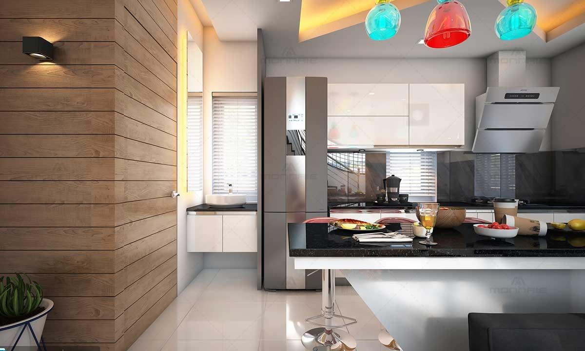 Minimal Contemporary Style Kitchen & Dinning Area Ideas