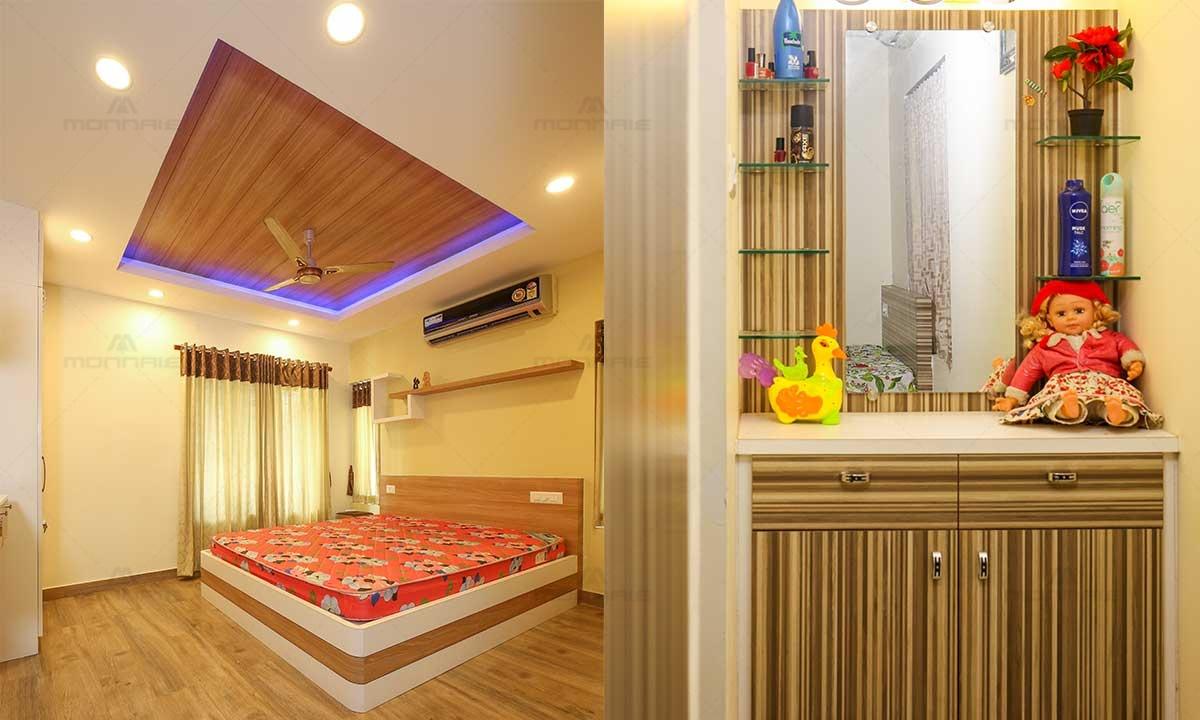 Minimalist Bedroom Ideas & False Celing & Lights Design - Monnaie Architects