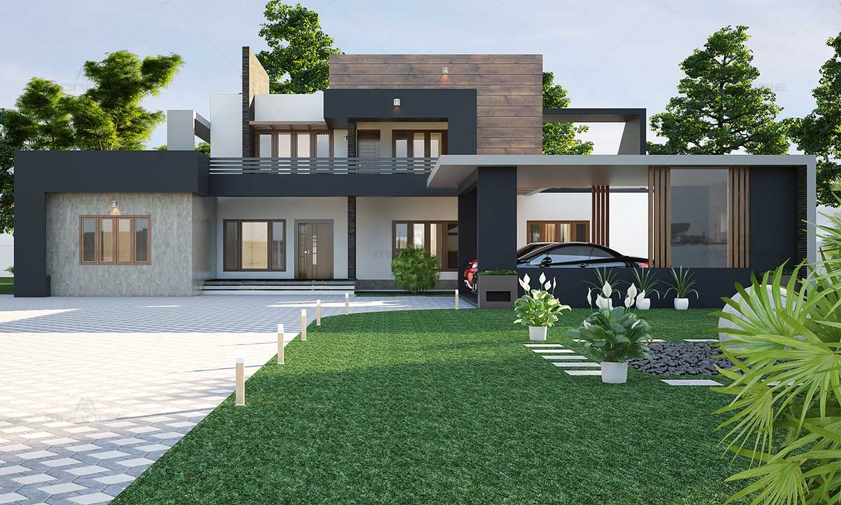 Modern Contemporary House Design Image - Monnaie Architects