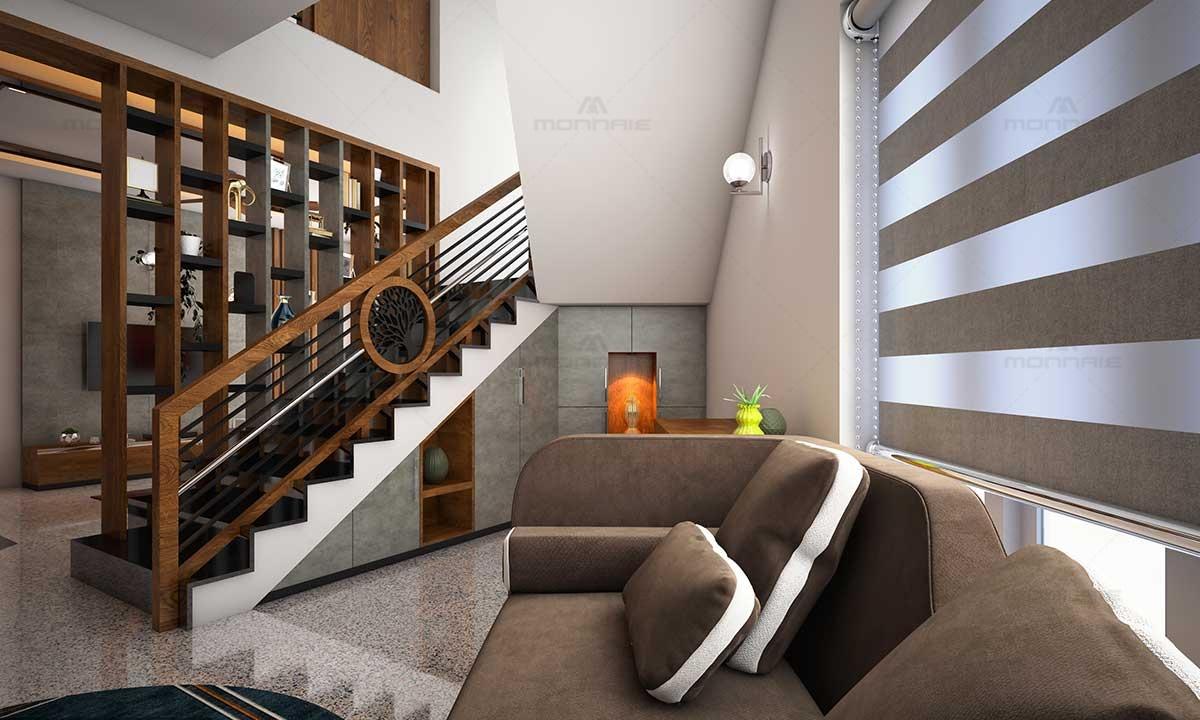 Modern Staircase Storage Space & Shelves Ideas