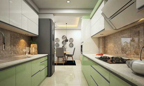 Modular kitchen interiors in Kerala - monnaie Architects & Interiors