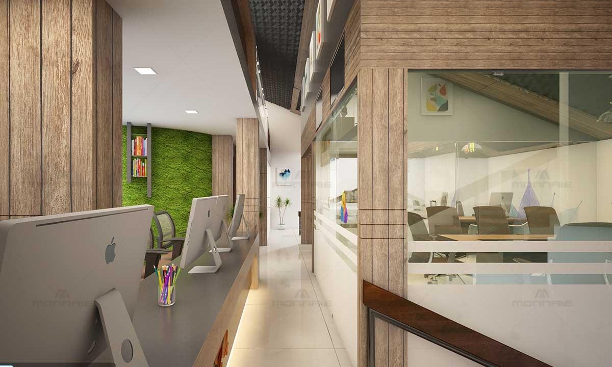 Office Verandah Design - Monnaie Architects, Kerala