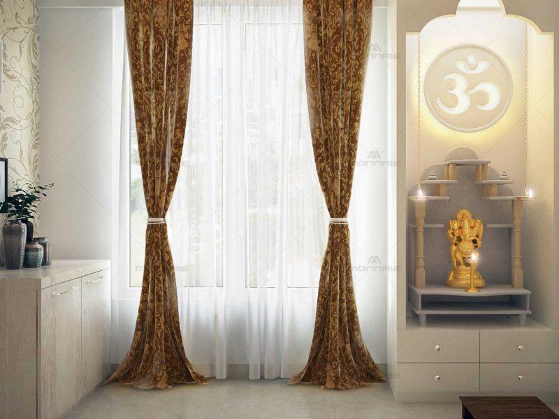 Pooja room interior designers in Cochin, Kerala - Monnaie Architects & Interiors