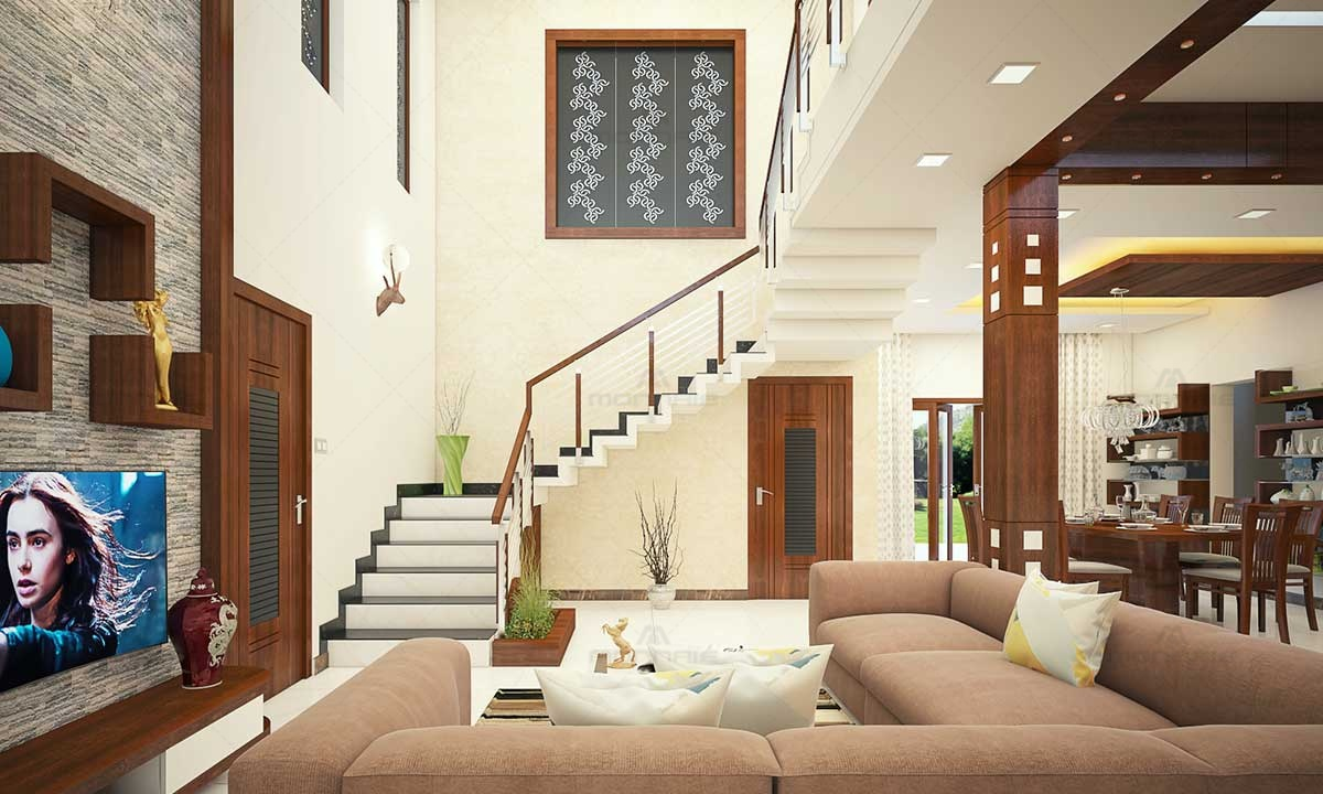 Simple Staircase & Living Room Ideas