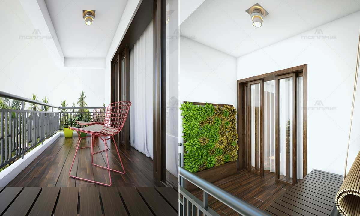 Small Balcony Design Ideas - Best Interior Designers in Kerala
