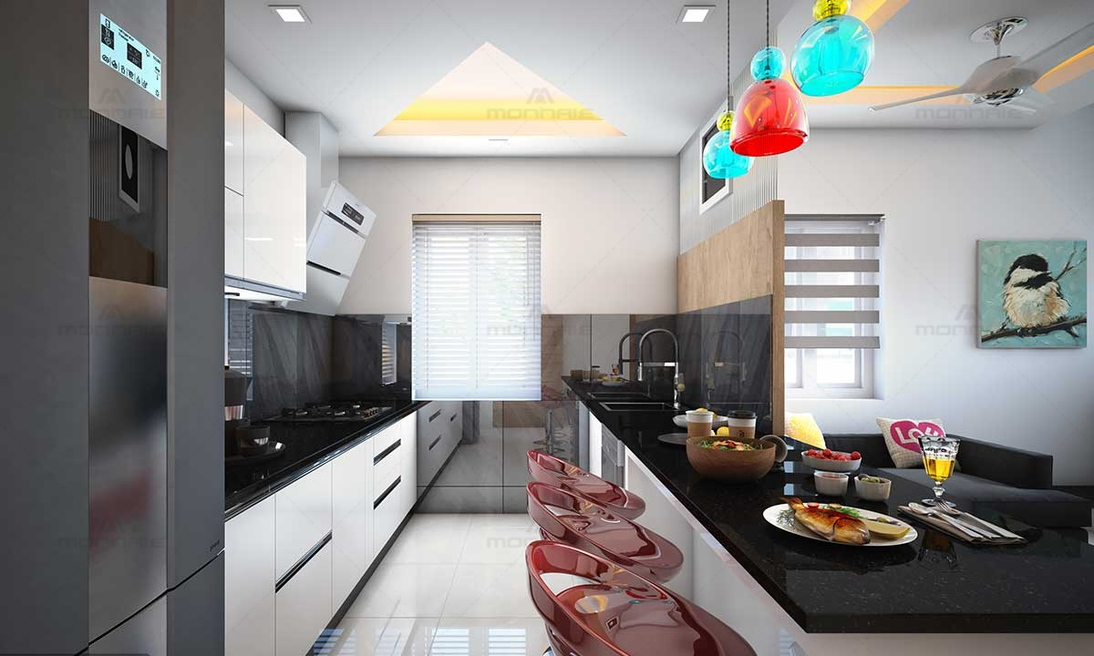 Small Kitchen & Dinning Plans & Hanging Lights