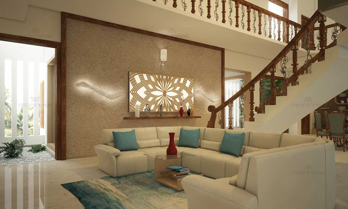Staircase & Living Room Furniture Design Ideas