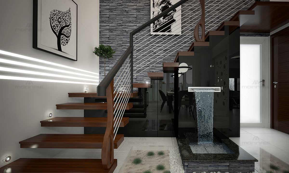 Staircase Railing & Wall Designs - Home Designers In Kerala