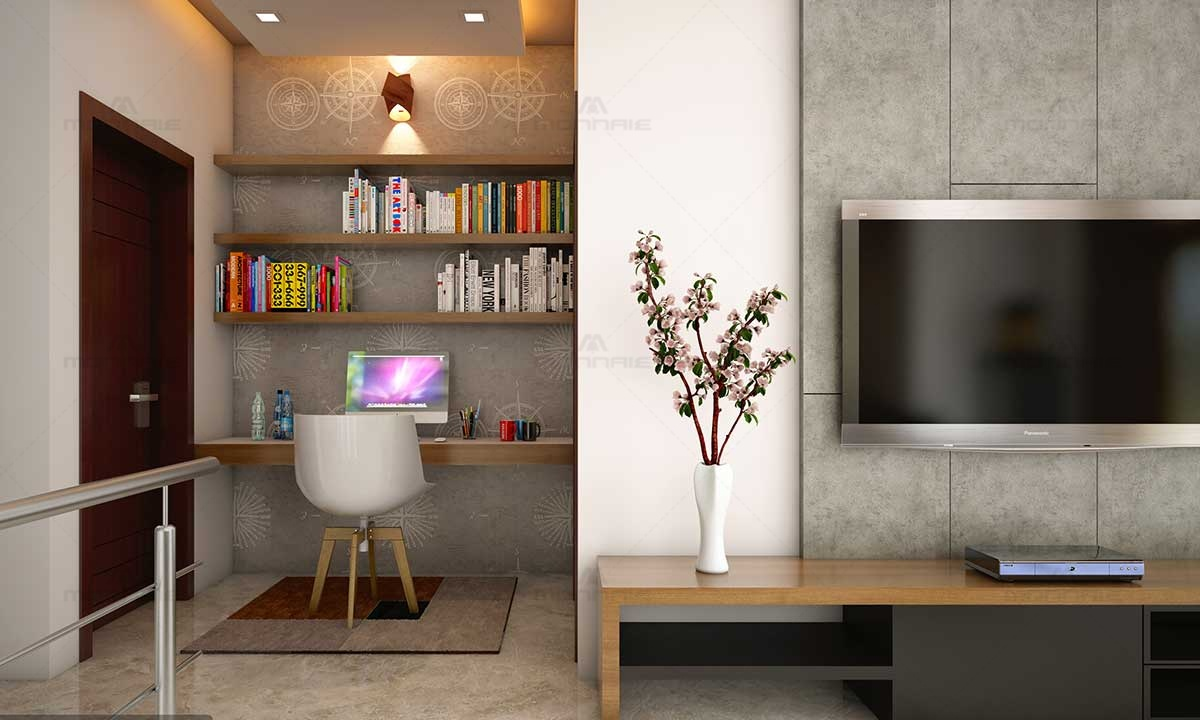 Study Area In Living Room Design & Ideas