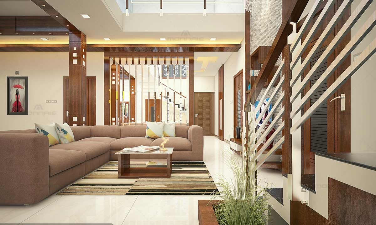 Stylish Living Room & Staircase Pictures