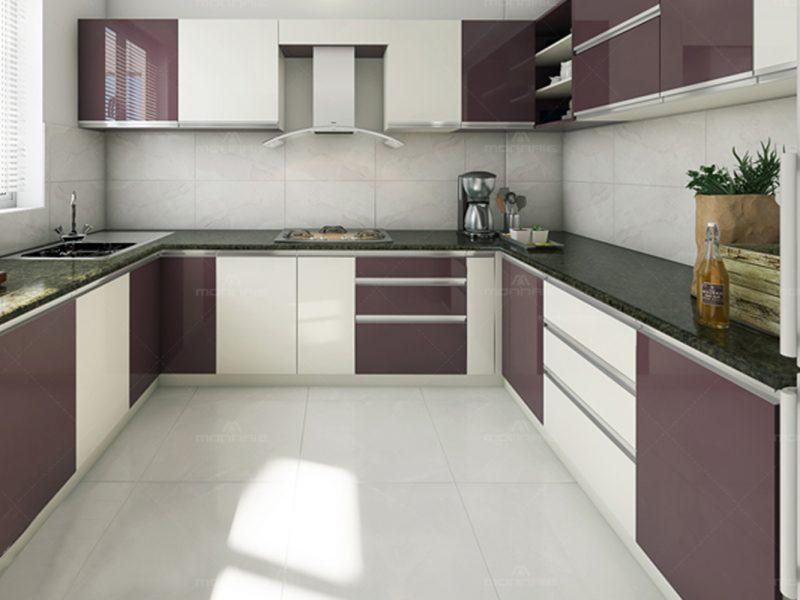 Black Currant Color & Modular Kitchen Designs & Cabinets, Kochi, Kerala